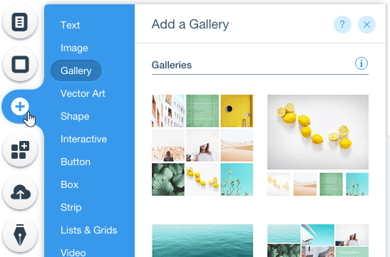 wix gallery